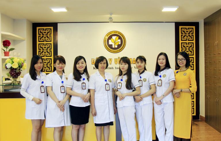Đội ngũ y bác sĩ tại phòng khám Đông y Hoàng Ngân