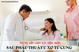 cách chăm sóc bệnh nhân sau mổ u xơ tử cung
