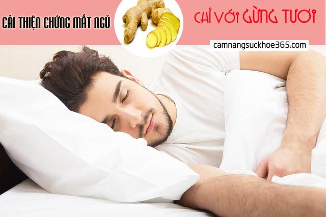 3 cách chữa bệnh mất ngủ bằng gừng tươi