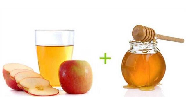 mật ong giấm táo trị tàn nhang