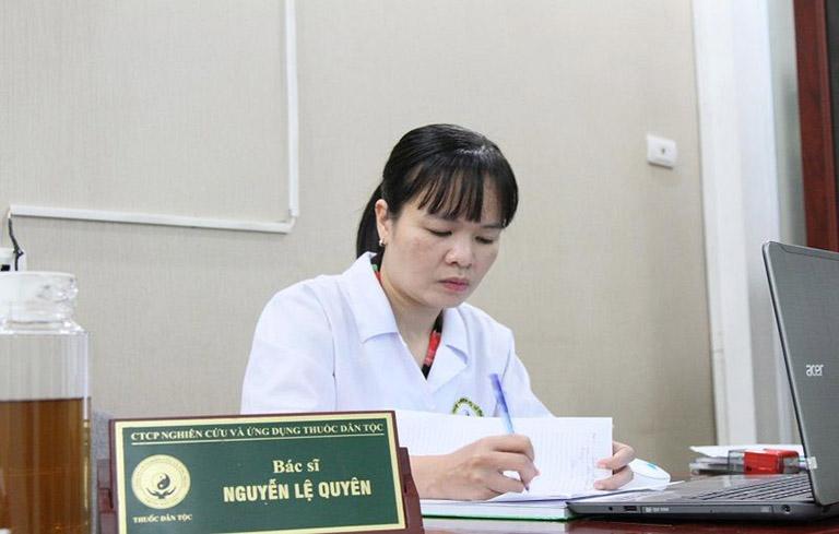Bác sĩ Lệ Quyên -Một trong những bác sĩ có chuyên môn cao trực tiếp điều trị mất ngủ tại Thuốc dân tộc