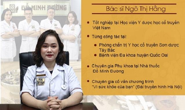 Bác sĩ Ngô Thị Hằng là người góp phần hoàn thiện bài thuốc tiền mãn kinh Đỗ Minh Đường