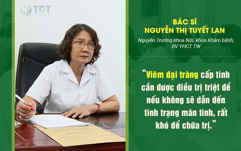 Chia sẻ của Thạc sĩ, bác sĩ Nguyễn Thị Tuyết Lan - Giám đốc chuyên môn tại Trung tâm Thuốc dân tộc