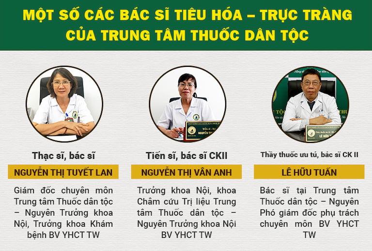 Đội ngũ y bác sĩ tại Thuốc dân tộc