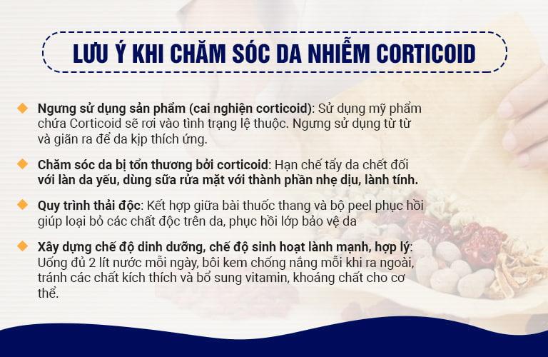 Chuyên gia khuyên bạn cách chăm sóc da nhiễm Corticoid