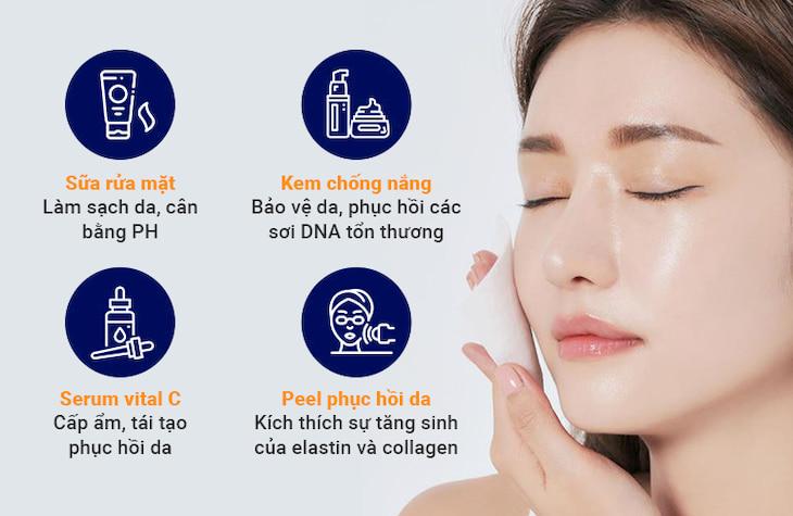 Sự kết hợp giữa phương pháp chăm sóc da chuyên sâu tại chỗ nhằm tối ưu hiệu quả