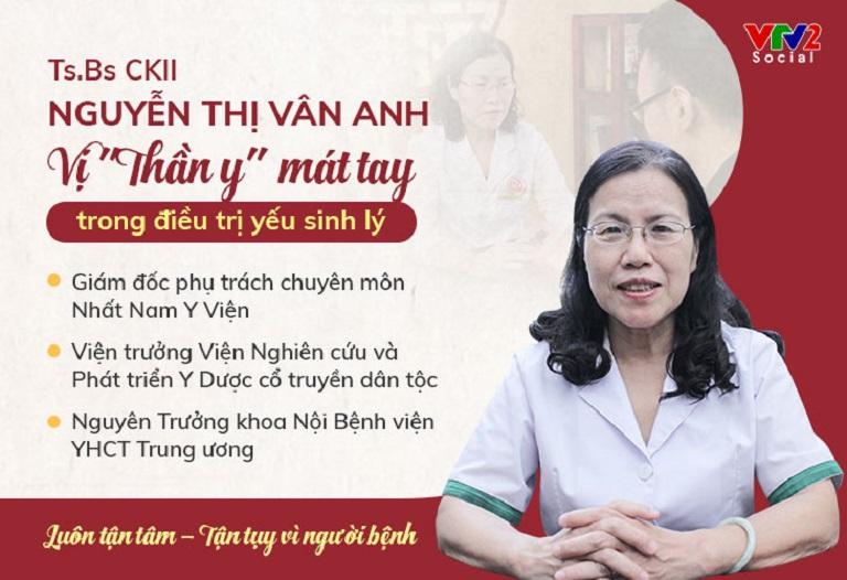 Tiến sĩ, Bác sĩ CKII Nguyễn Thị Vân Anh - Giám đốc phụ trách chuyên môn Nhất Nam Y Viện