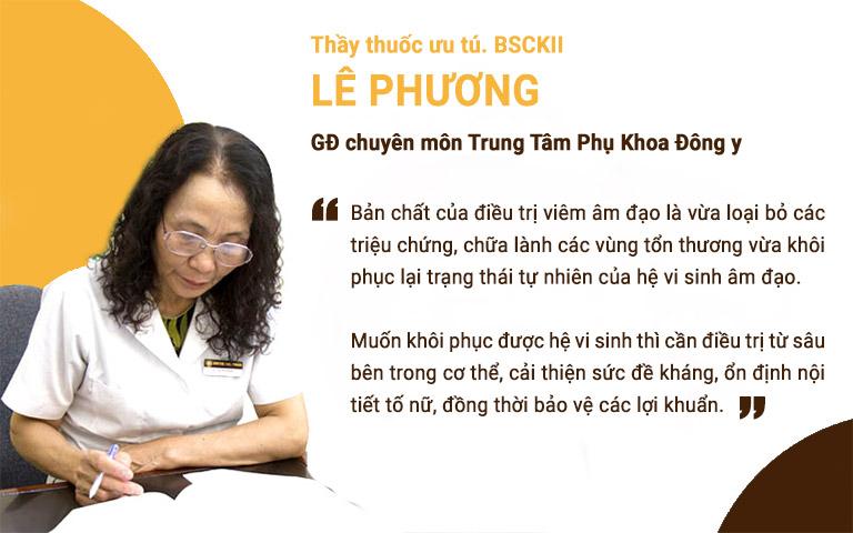 Bác sĩ Lê Phương chia sẻ về vai trò của hệ vi sinh âm đạo trong điều trị viêm phụ khoa