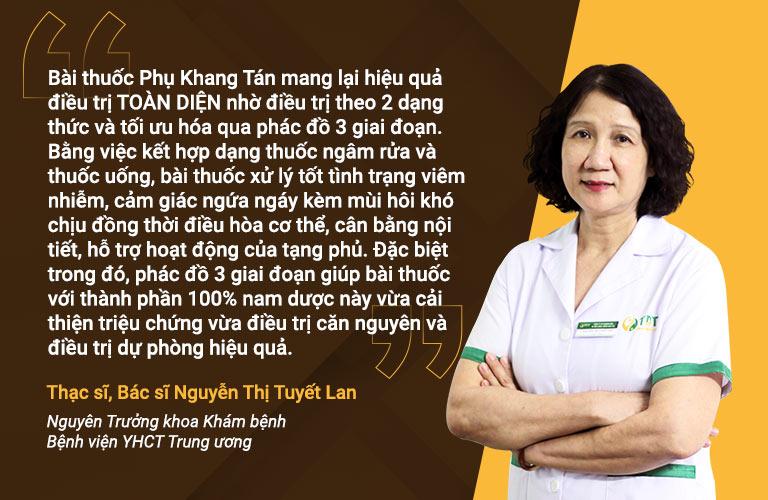Bác sĩ Tuyết Lan nhận xét về phác đồ Phụ Khang Tán