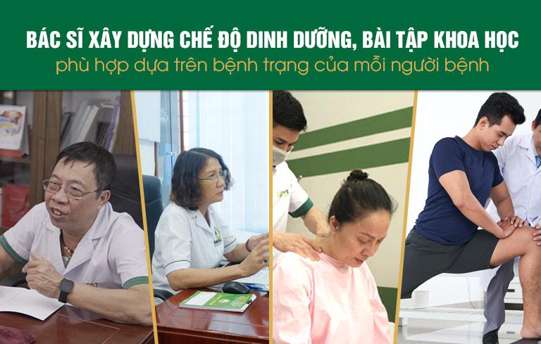 Bác sĩ đồng hành tư vấn dinh dưỡng và bài tập phù hợp
