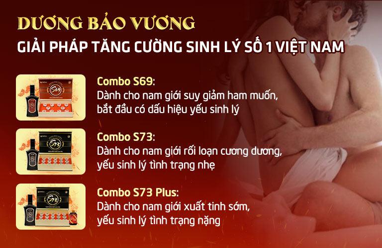 Bộ 3 combo sinh lý Dương Bảo Vương - Bảo bối khuê phòng của quý ông thời thượng