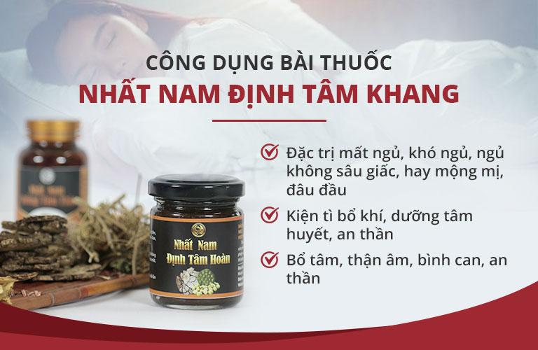 Công dụng vượt trội của bài thuốc Nhất Nam Định Tâm Khang