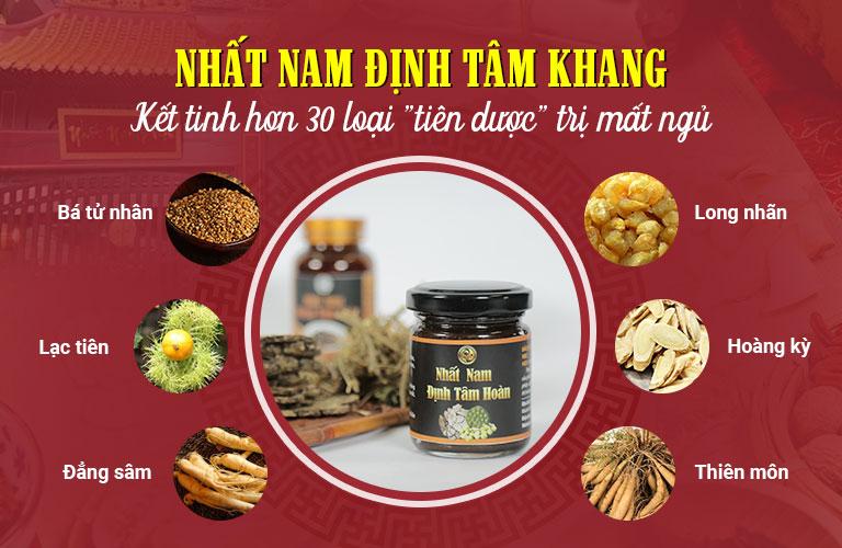 Dược liệu quý sử dụng trong bài thuốc Nhất Nam Định Tâm Khang