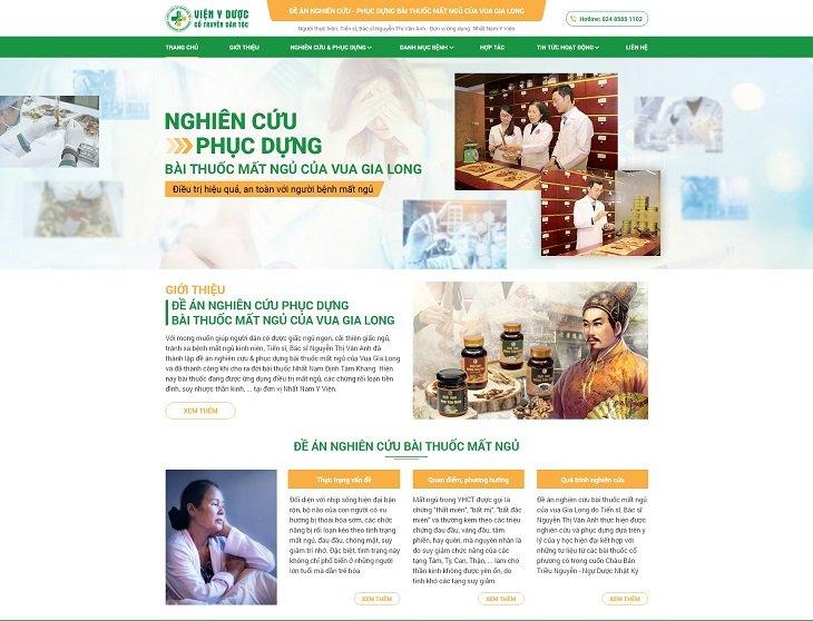 Website đề án nghiên cứu - phục dựng bài thuốc mất ngủ của Vua Gia Long