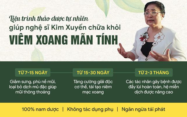 Liệu trình chữa bệnh viêm xoang tại Quân dân 102 được bác sĩ Lê Phương cho nghệ sĩ
