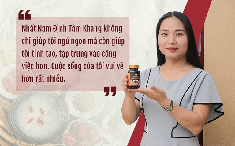Chia sẻ của khách hàng về bài thuốc chữa mất ngủ Nhất Nam Định Tâm Khang